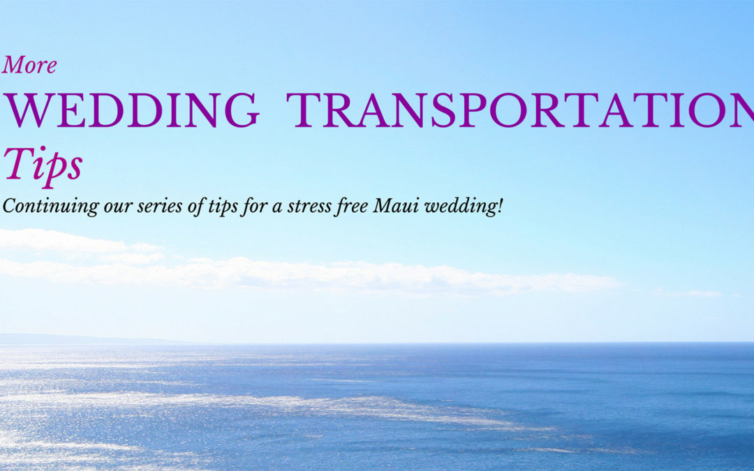 More Wedding Transportation Tips