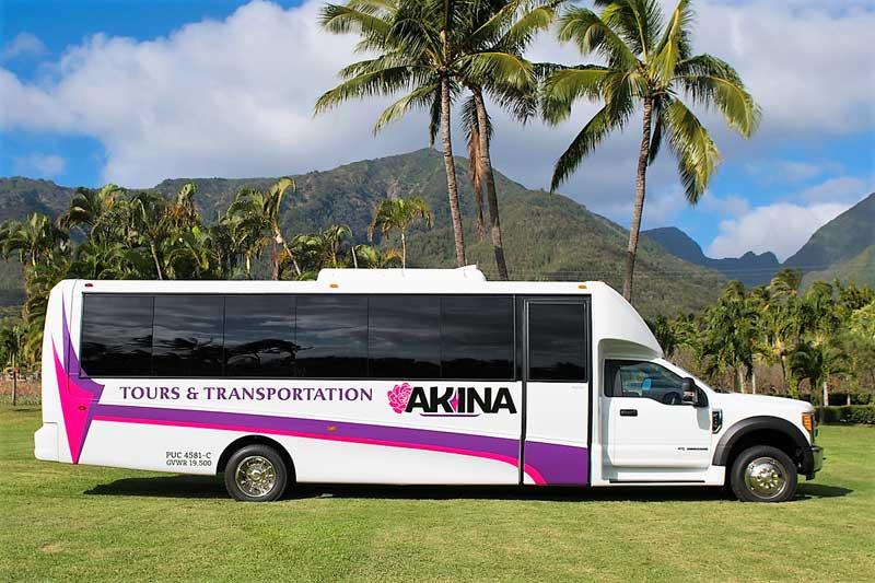 Our Maui Transportation Fleet: SUV, Mini Bus, Motor Coach & More